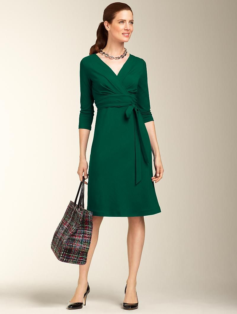 Double Knit Dress.. Available at Talbots.com