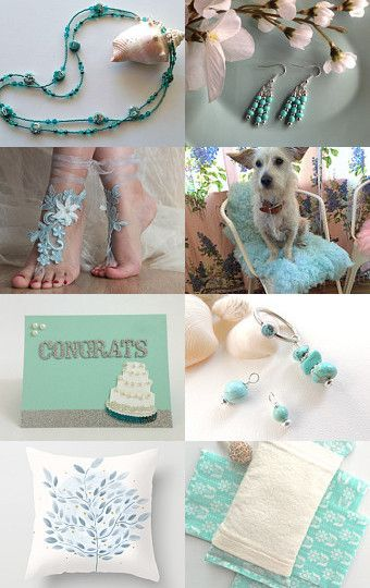 Aqua Wedding by Cassie on Etsy--Pinned with TreasuryPin.com