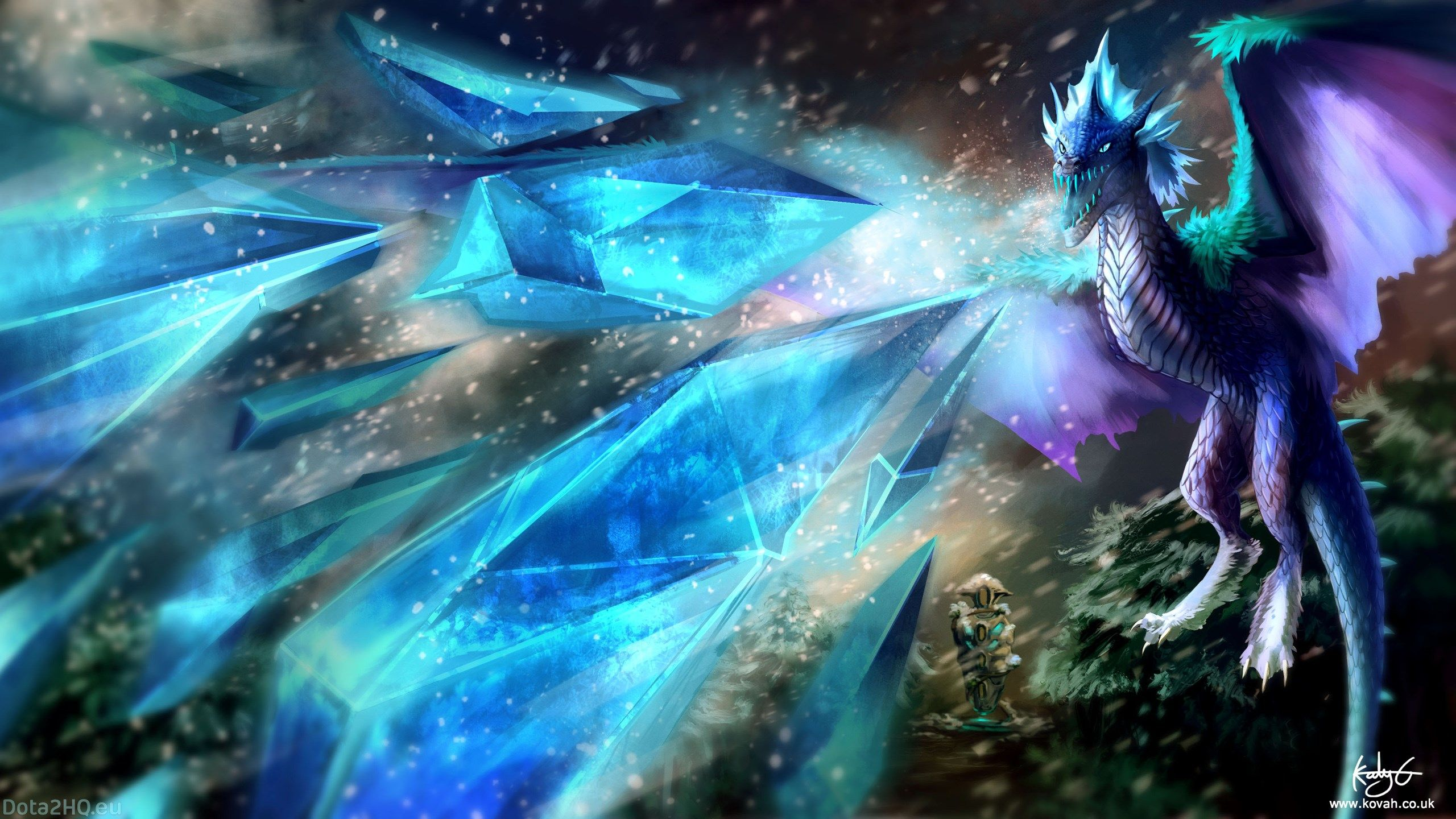 X Winter Wyvern Dota  Wallpaper Hd