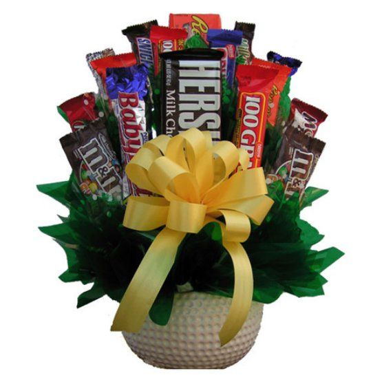 Golf Lovers Candy Bouquet | Valentine\'s Day | Pinterest | Candy bouquet