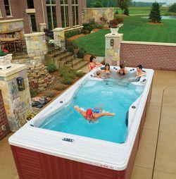 Dreamin Big Would Love A Swim Spa Hot Tub Swim Spa Endless Pool Swim Spa