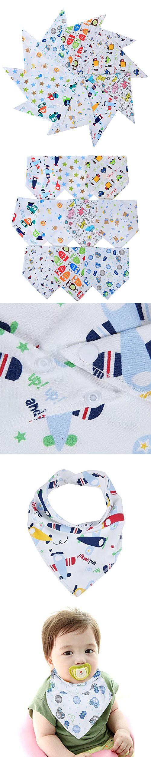 Labebe Baby Bandana Bibs Drool Burpy Bibs For Boys 10 Pack