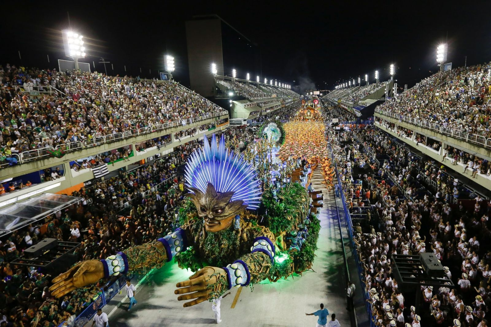 The Vila Isabel Samba School Parade Float Processes Forward During