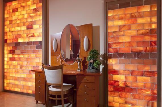 Himalayan Salt Wall Block Tile Decor Himalayan Salt Room Salt Room Salt Room Therapy