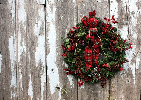 This wreath will be a welcoming addition to your holiday decor