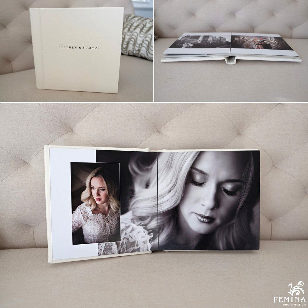Eternal Flush Album Soft Ivory Leather With Plain Cover And Silver Imprinting