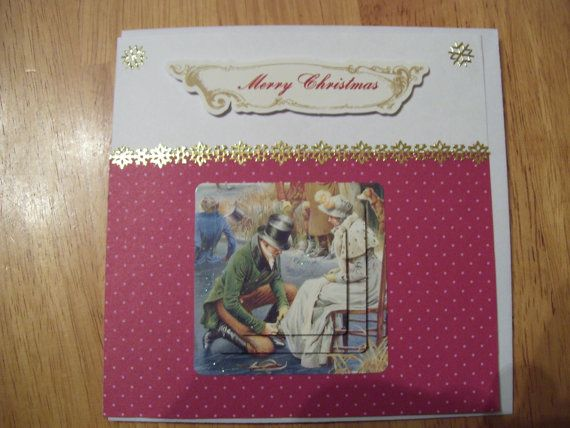 Quality handmade 3D Pyramage Christmas Card by CrowCottageCrafts,