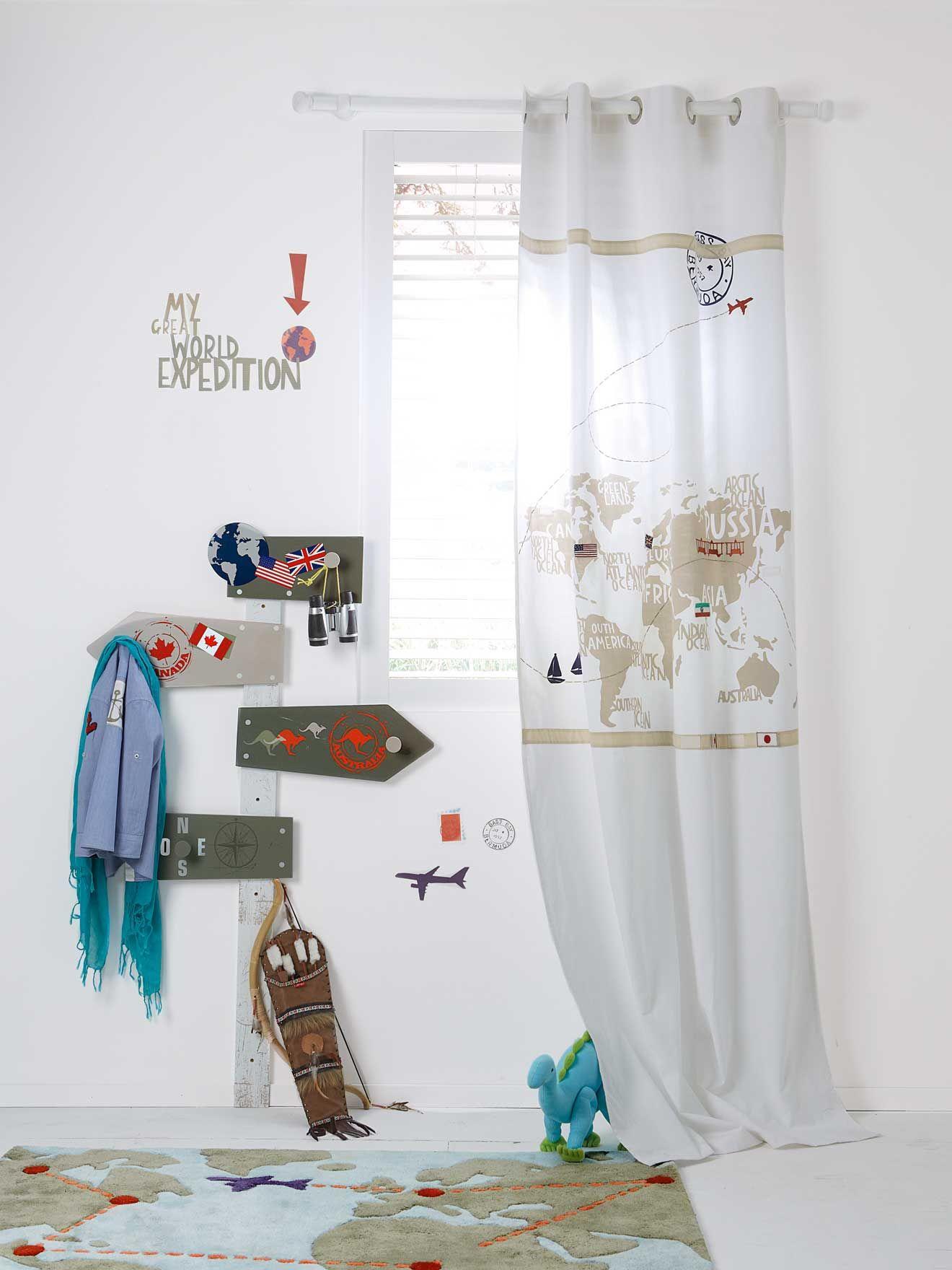 Ambientes infantiles, decorar la habitación infantil con un mapa del ...