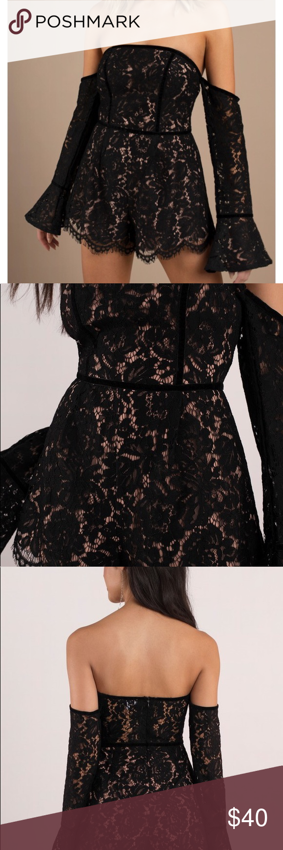 Angelica Bell Nude tobi angelica black lace romper black and nude lace romper