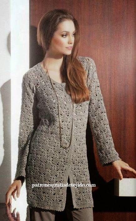 Patrones y moldes de sacón crochet de dama | BLUSAS CROCHET OR KNNIT ...