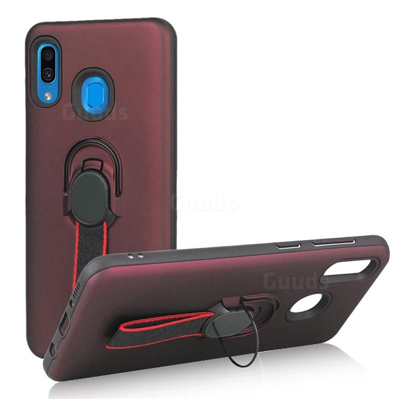 Raytheon Multi Function Ribbon Stand Back Cover For Samsung Galaxy A30 Wine Red Galaxy A30 Cases Guuds Samsung Galaxy Galaxy Samsung