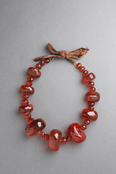 Amber Necklace , Cristal Cut (Poland) 18th Century