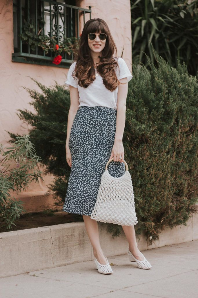 French Fashion and Floral Midi Skirts + Link Up – Jeans and a Teacup