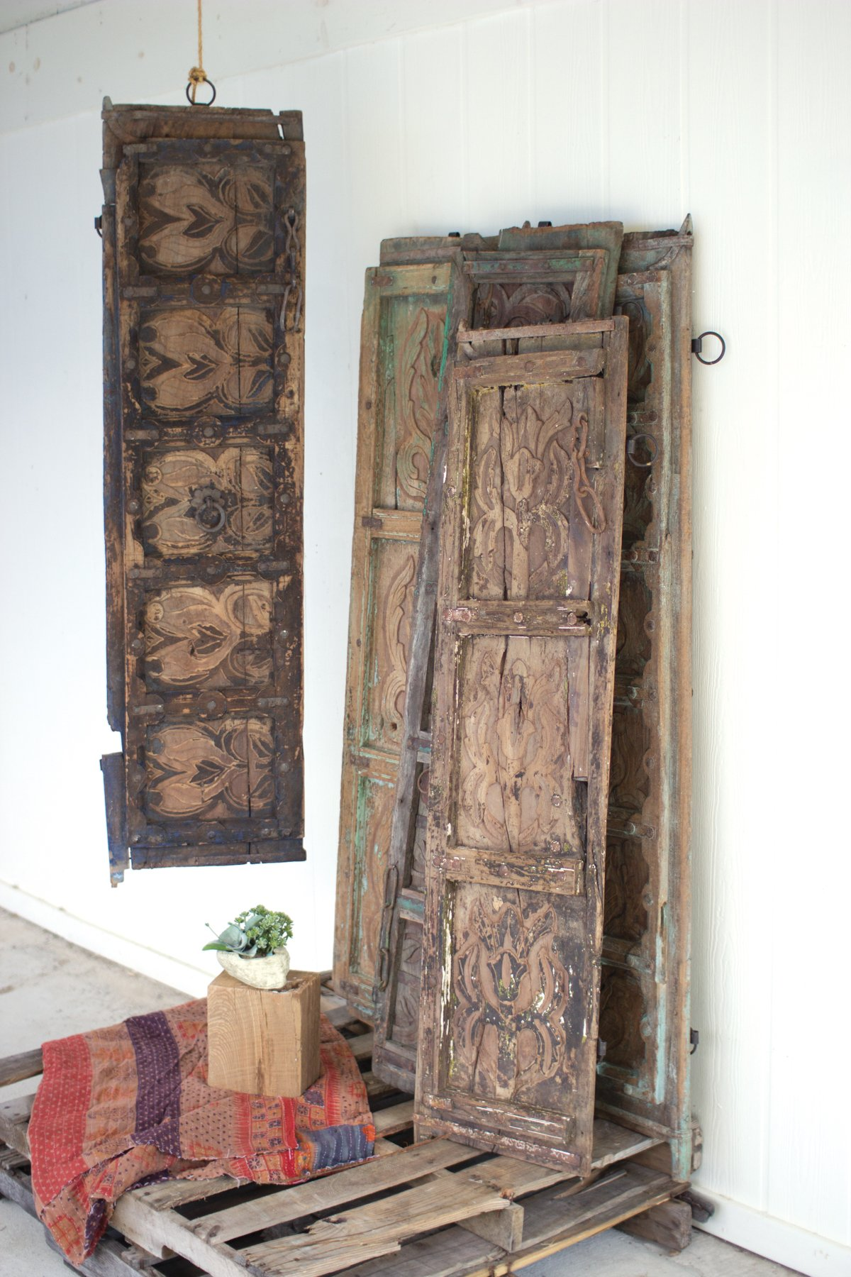 Antique Wooden Door Panel Wall Art Orted Designs