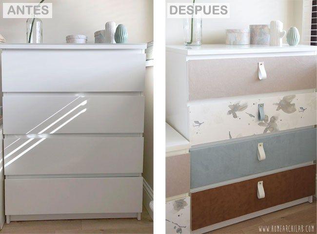 Antes y despu s de una c moda malm y sus mesillas ikea - Ikea mesillas y comodas ...