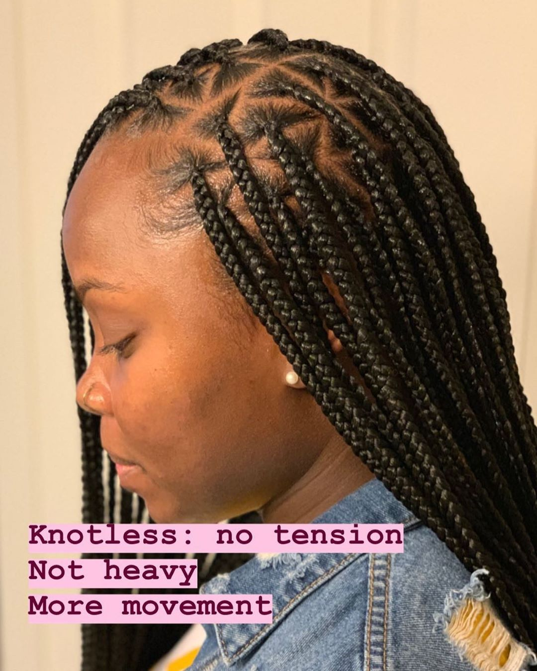 Image May Contain 1 Person Closeup Hair Styles Box Braids Styling Braided Hairstyles