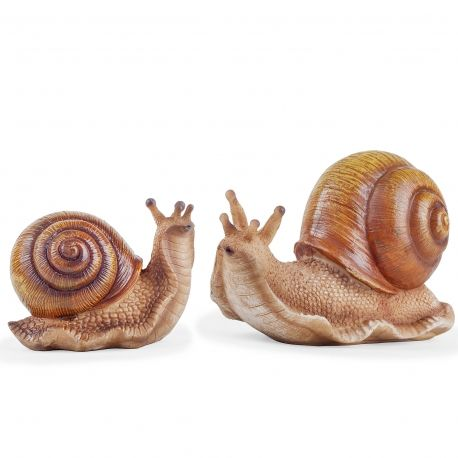 The Hosta Loving Garden Snail Ornaments , Two Sizes