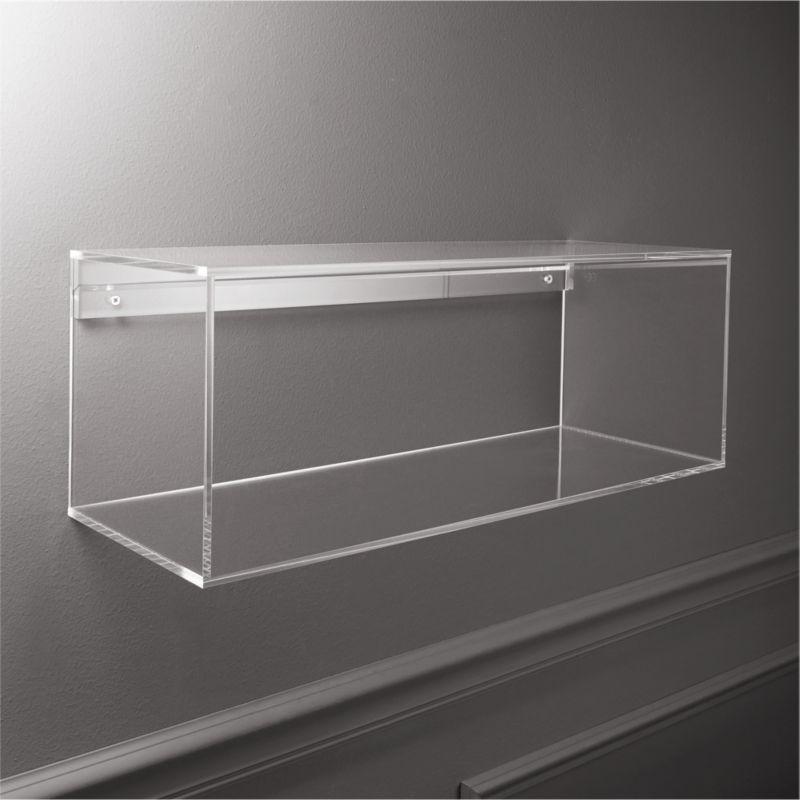 Lucite Shelf Reviews Cb2 Acrylic Storage Acrylic Shelf Storage Shelves