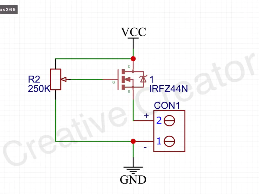 Led Strip Dimmer Circuit With Irfz44n Mosfet Hackster Io Dimmer Circuit Led Strip