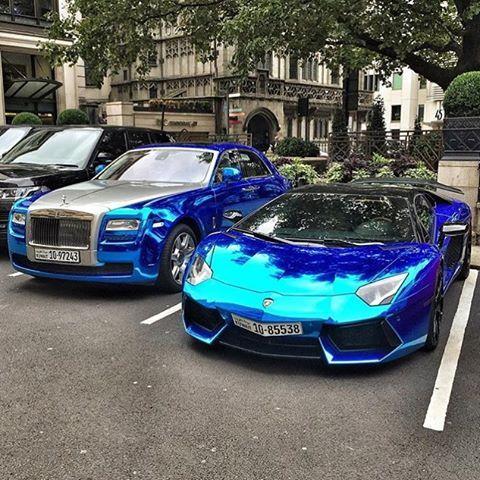 lamborghini aventador blue chrome lamborghini - Lamborghini Aventador Blue Chrome