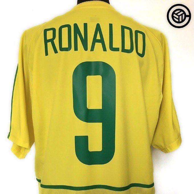 3122dea3a 2002 Brazil 02 Football Shirt (XL) RONALDO  9  cult football Link in bio  (search  Ronaldo)  ronaldo  phenom  brazil  nike  nikefootball   footballshirt   ...