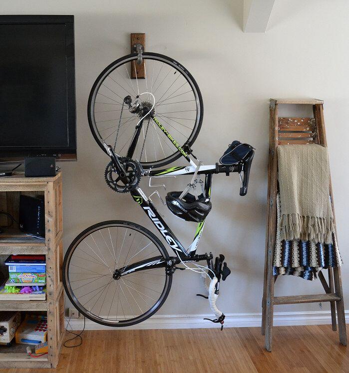 9 Ways to Store a Bike Indoors Diy bike rack, Bike
