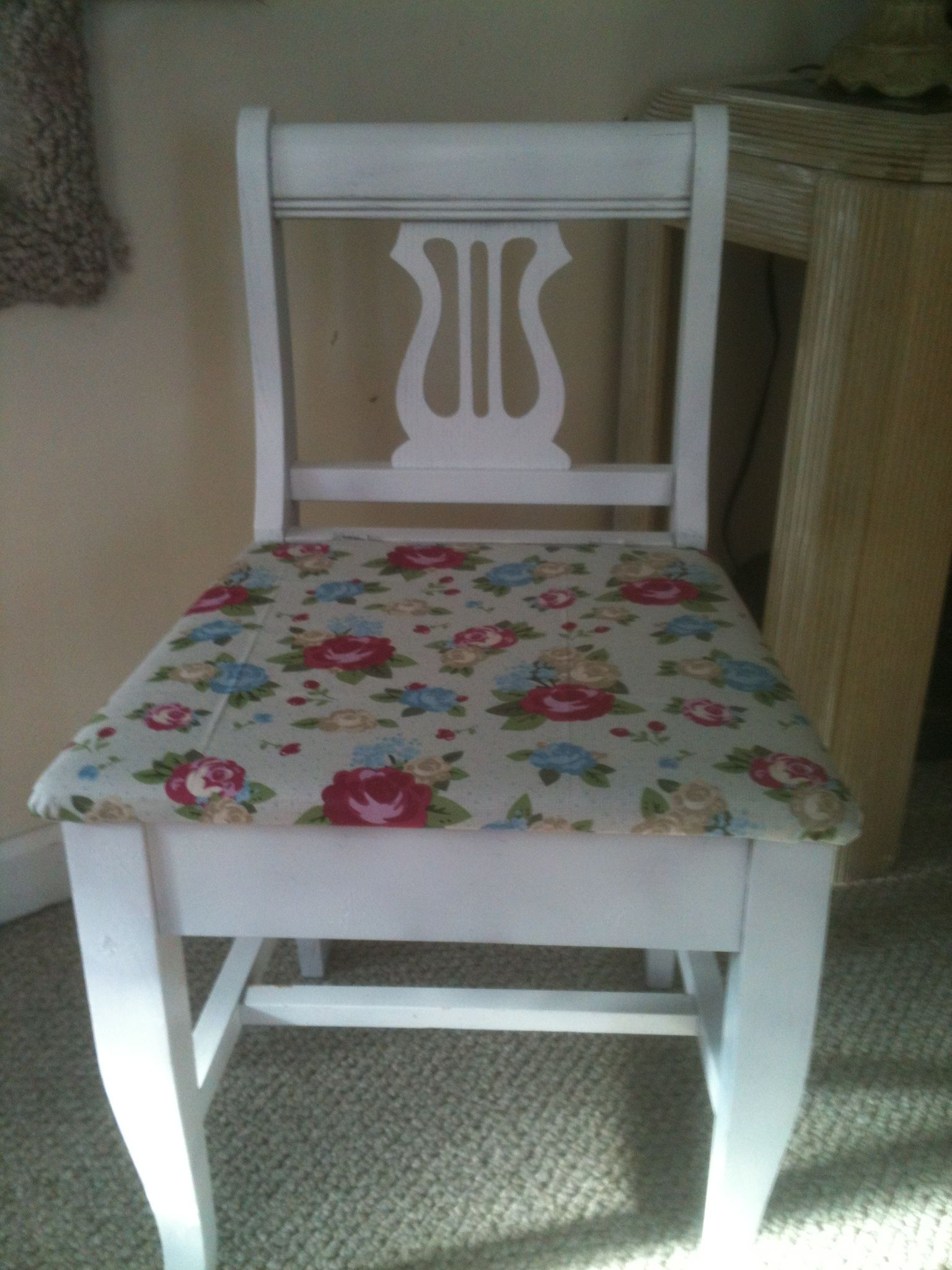 Superb Antique Sewing Chair Forgot To Take Before Picture It Was Theyellowbook Wood Chair Design Ideas Theyellowbookinfo