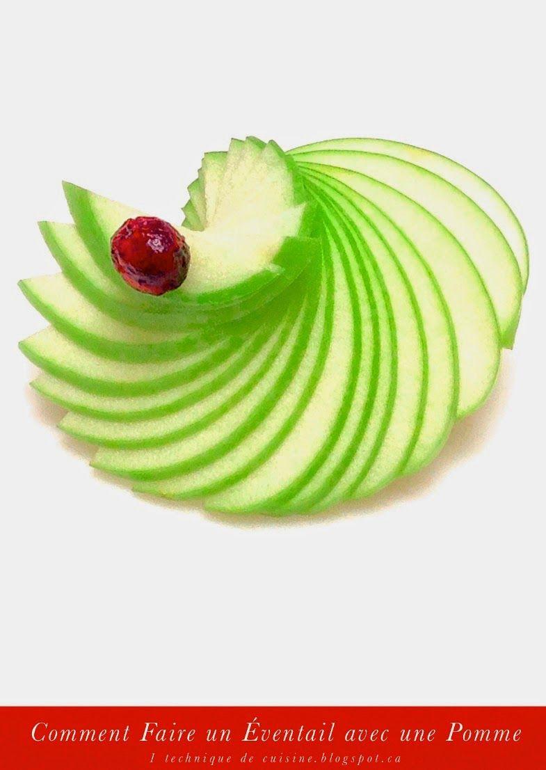 1 sculpture de fruit et l gume comment faire un ventail avec une pomme en 1 minute d co en. Black Bedroom Furniture Sets. Home Design Ideas