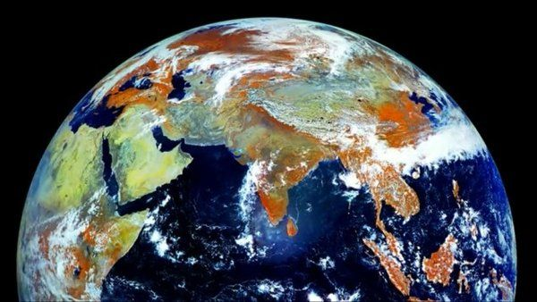 Russian Weather Satellite Gives Stunning View Of Earth Earth Photos Earth From Space Planets