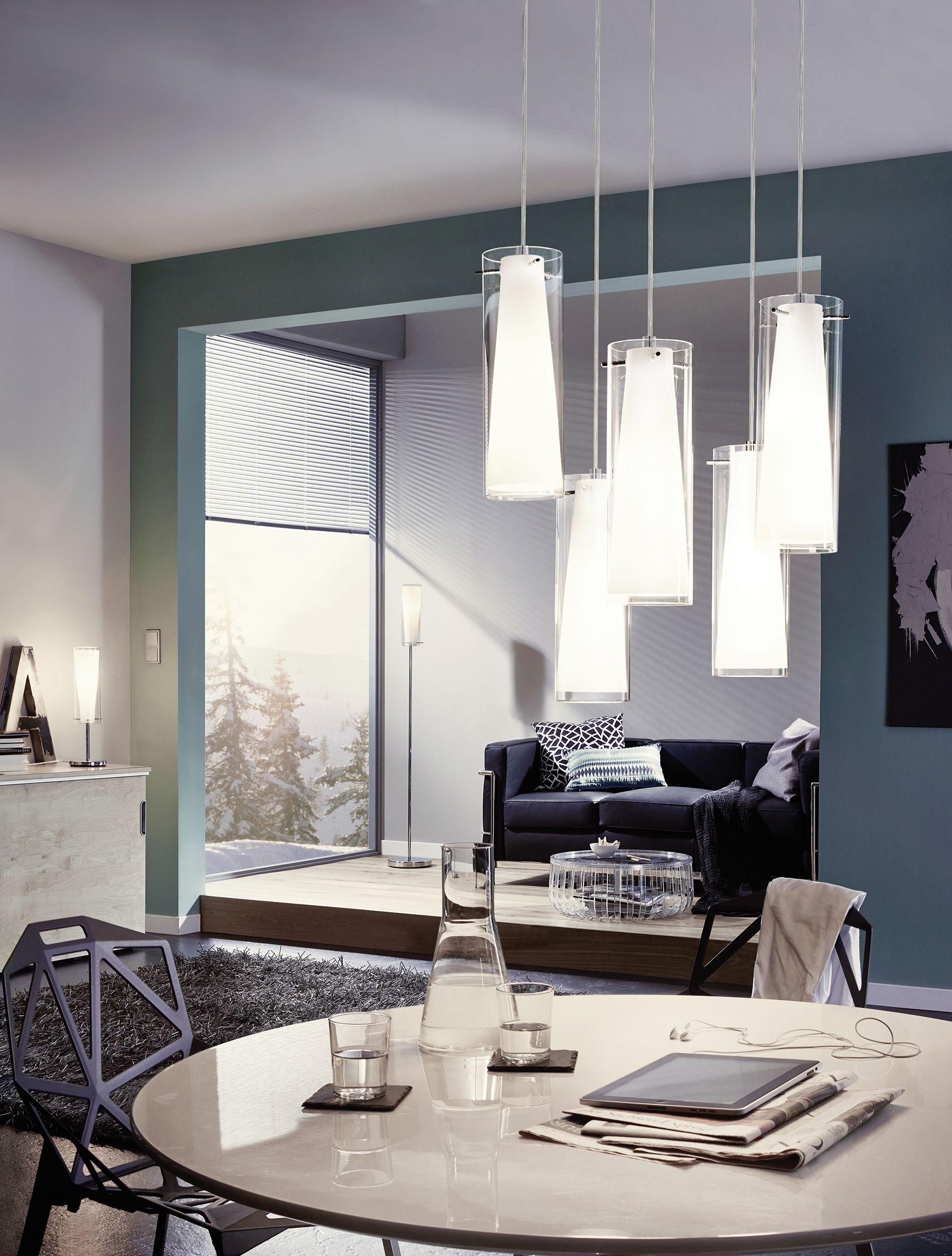 suspension pinto, 3 lumières, cuisine, salle à manger, blanc