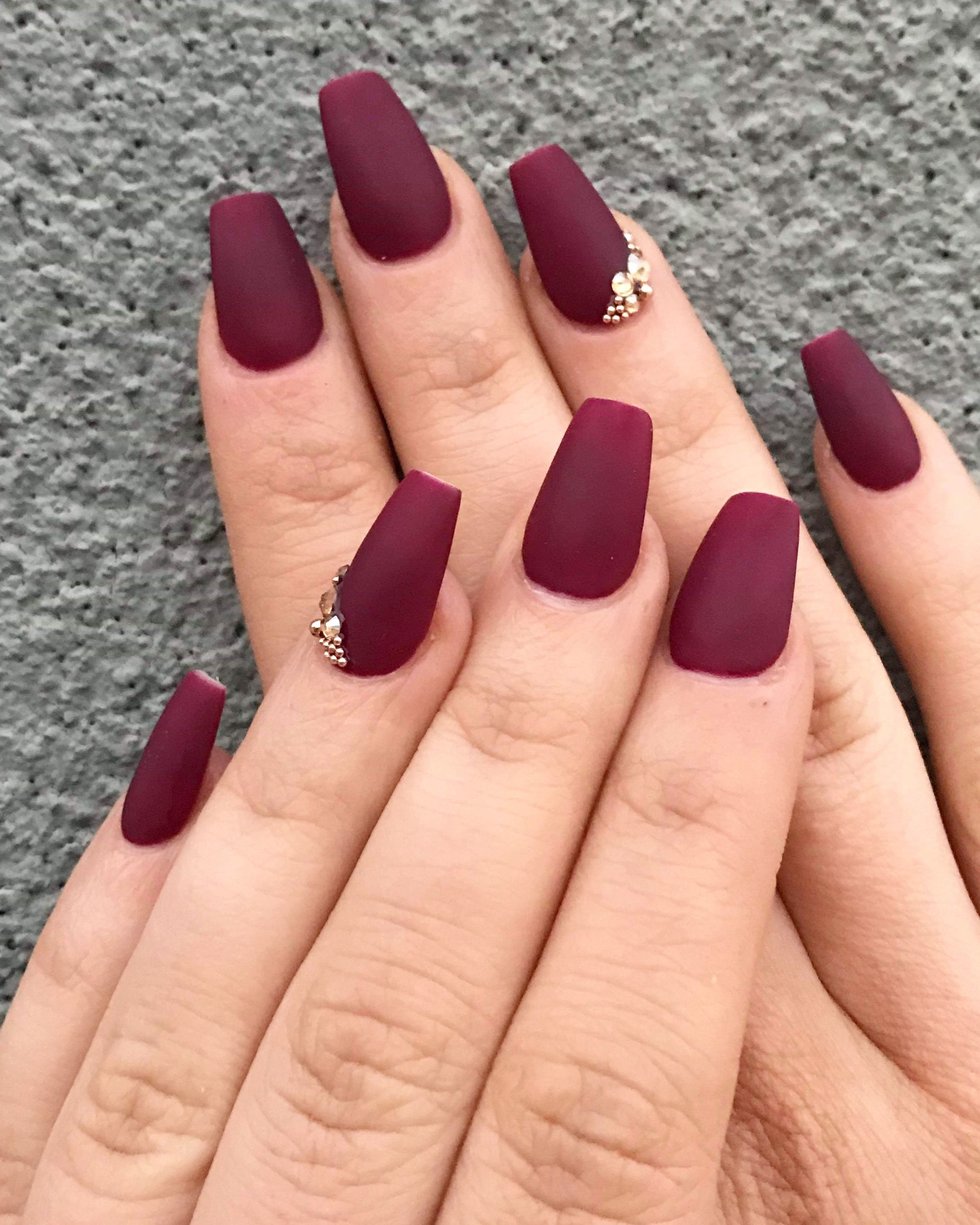 Red Matte Nails Red Matte Nails Matte Nail Colors Red Acrylic Nails