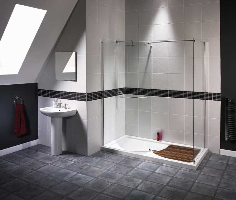 alluring walk in shower ideas for small bathrooms with prefab tile
