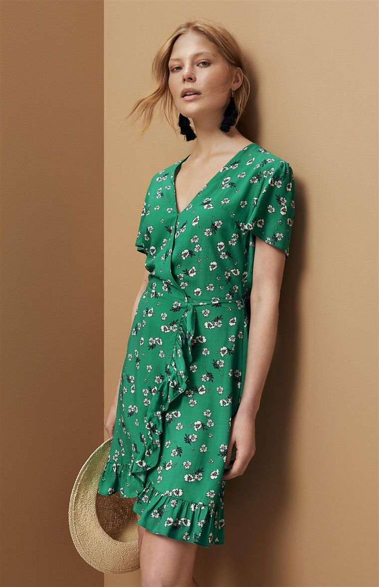 Primark Green Floral And Frill Dress My Style In 2019