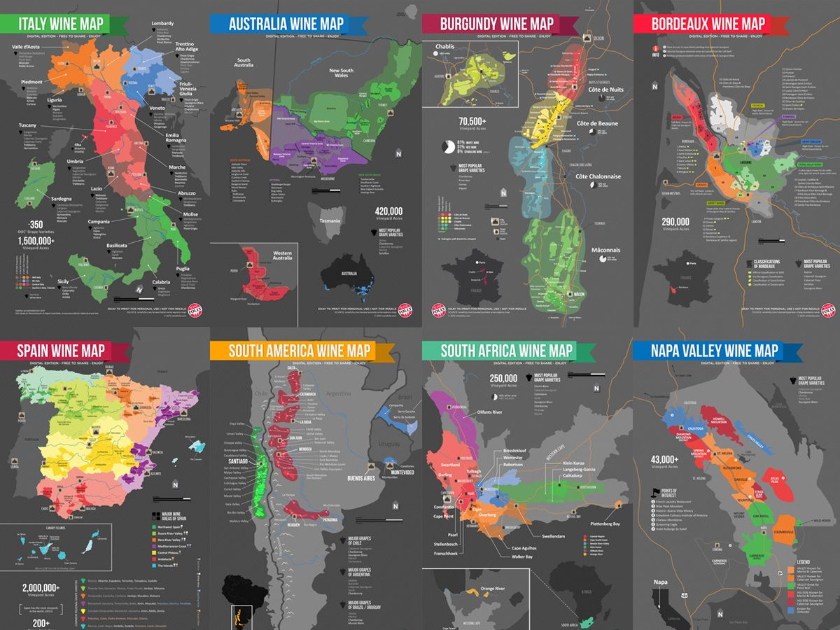 Picture Of Map Of Australia%0A Download Wine Maps  Free
