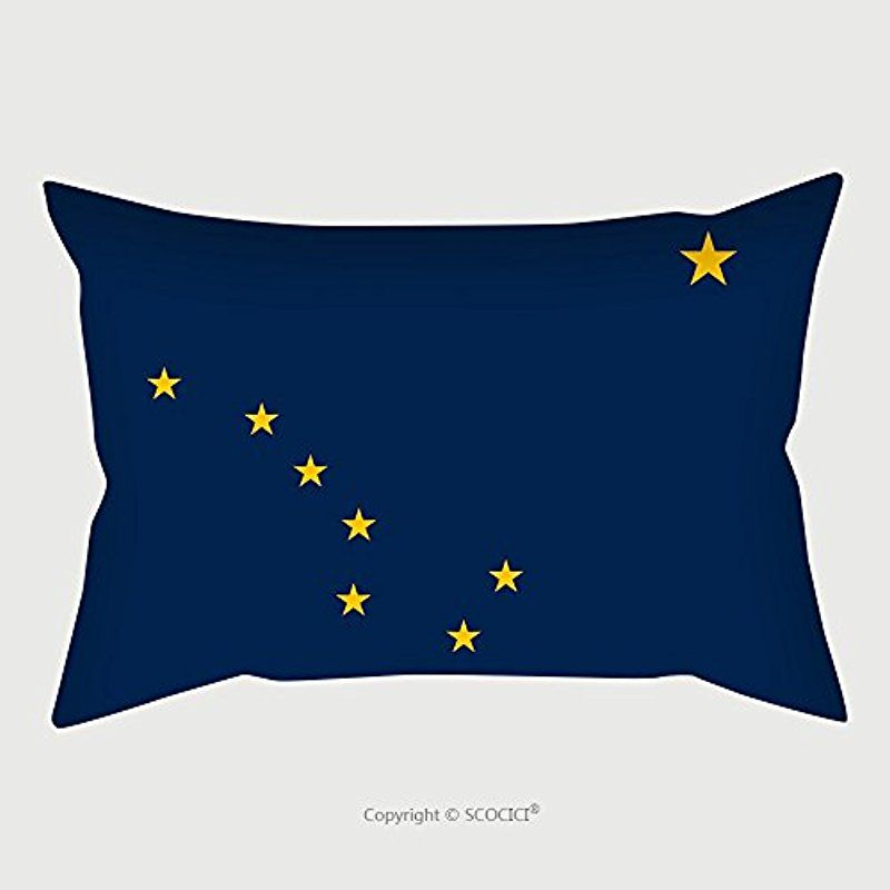 Custom Microfiber Pillowcase Protector Alaskan Official Flag Symbol