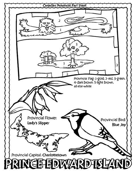 Canadian Province Prince Edward Island Coloring Page Canadian