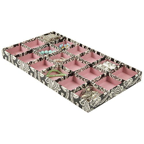 18 Section Jewelry Tray Drawer Organizer Flowers Sheffield Home
