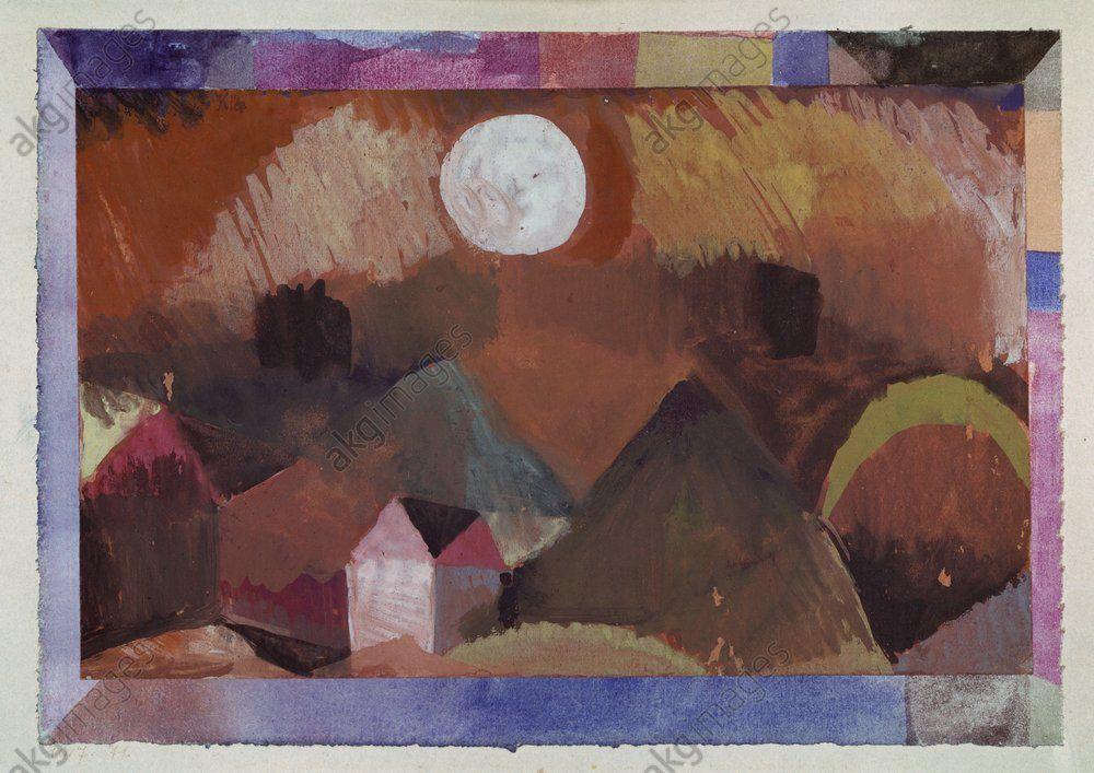 Paysage En Rouge Avec Une Etoile Blancheklee Paul 1879 1940