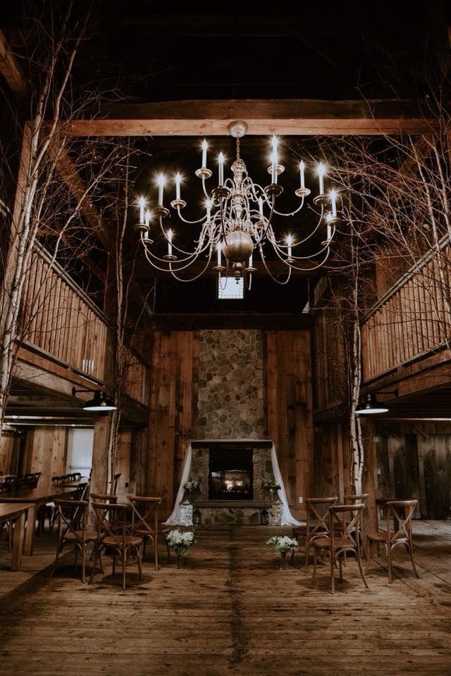 Moody Rustic Barn, Elegant Chandeliers, NH Wedding venue