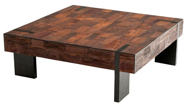 Captivating Urban Rustic Reclaimed Wood Coffee Table