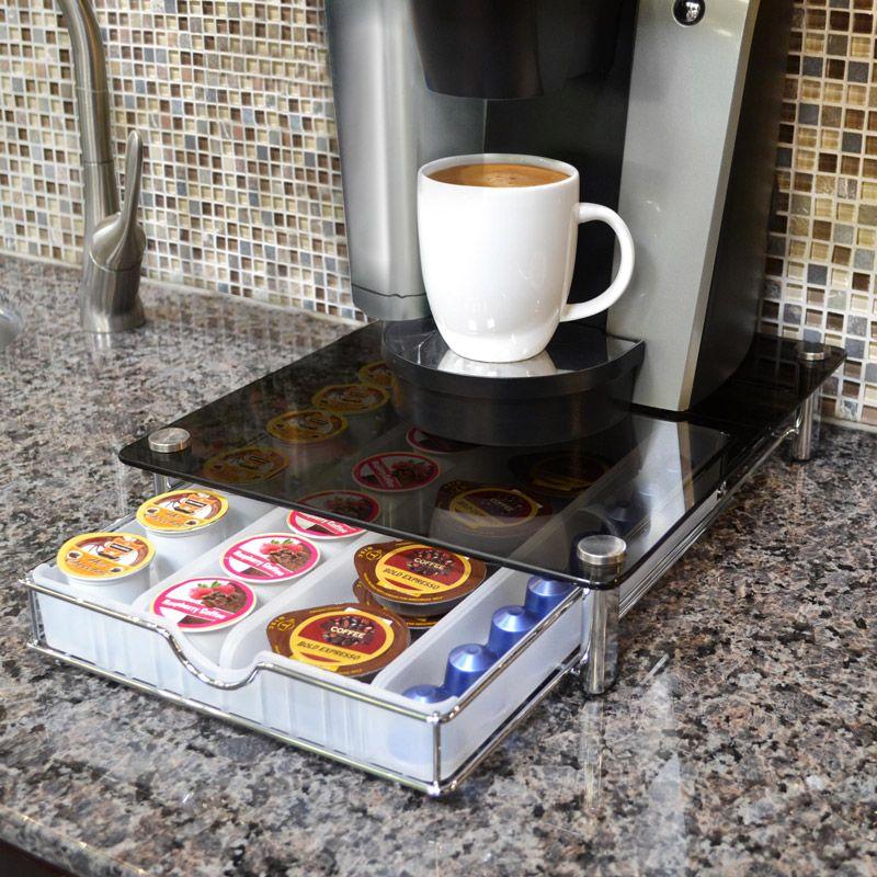 Costco UK Smart Works Glass Top Coffee Pod Organiser