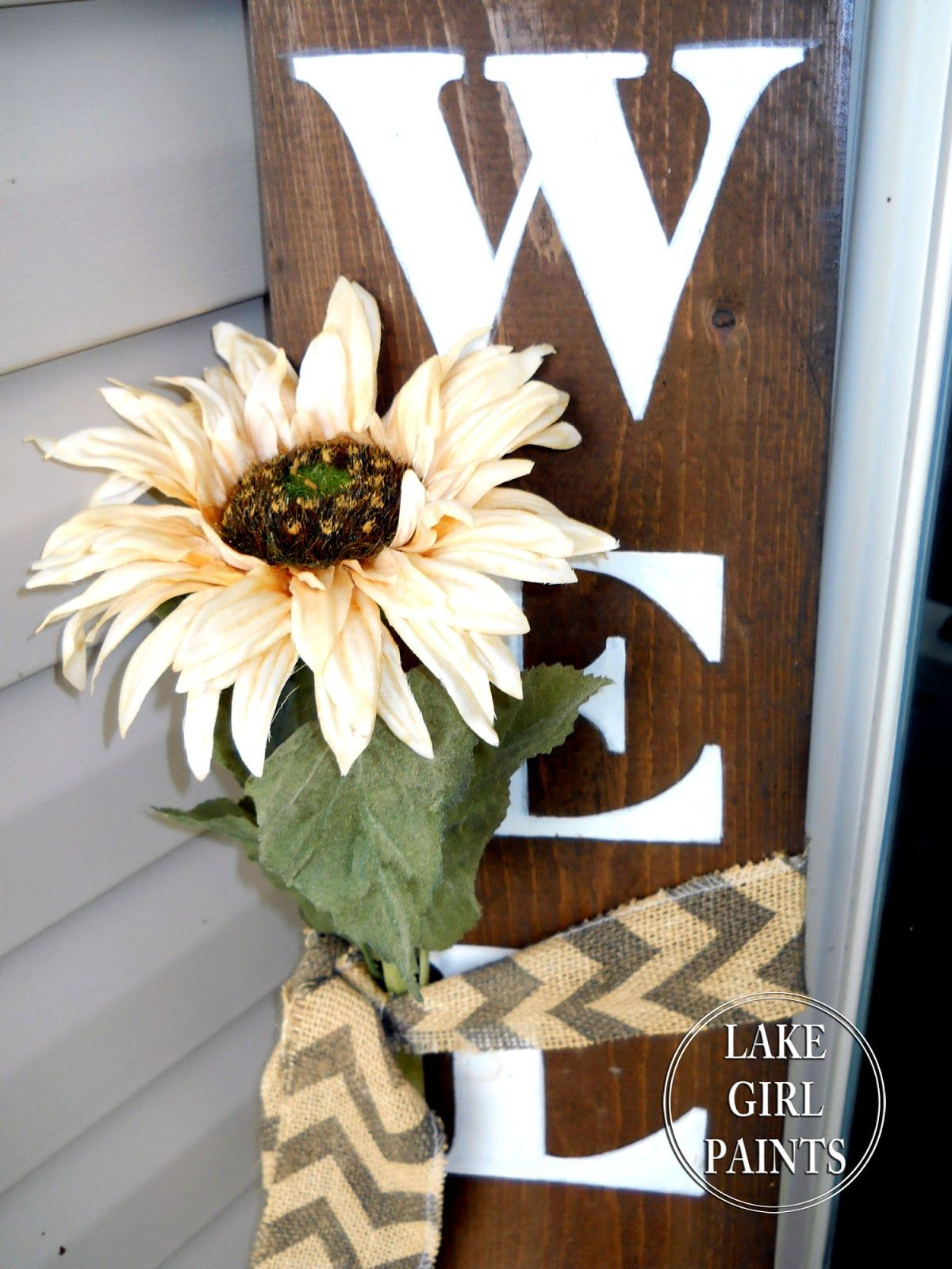 Lake girl paints how to paint a canvas pumpkin door hanging