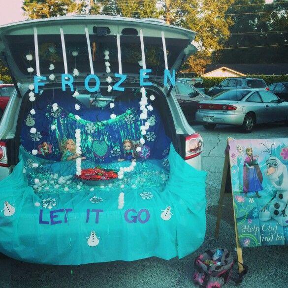 Frozen Trunk or Treat ⛄❄⛄❄ Halloween Pinterest Frozen a - decorate your car for halloween