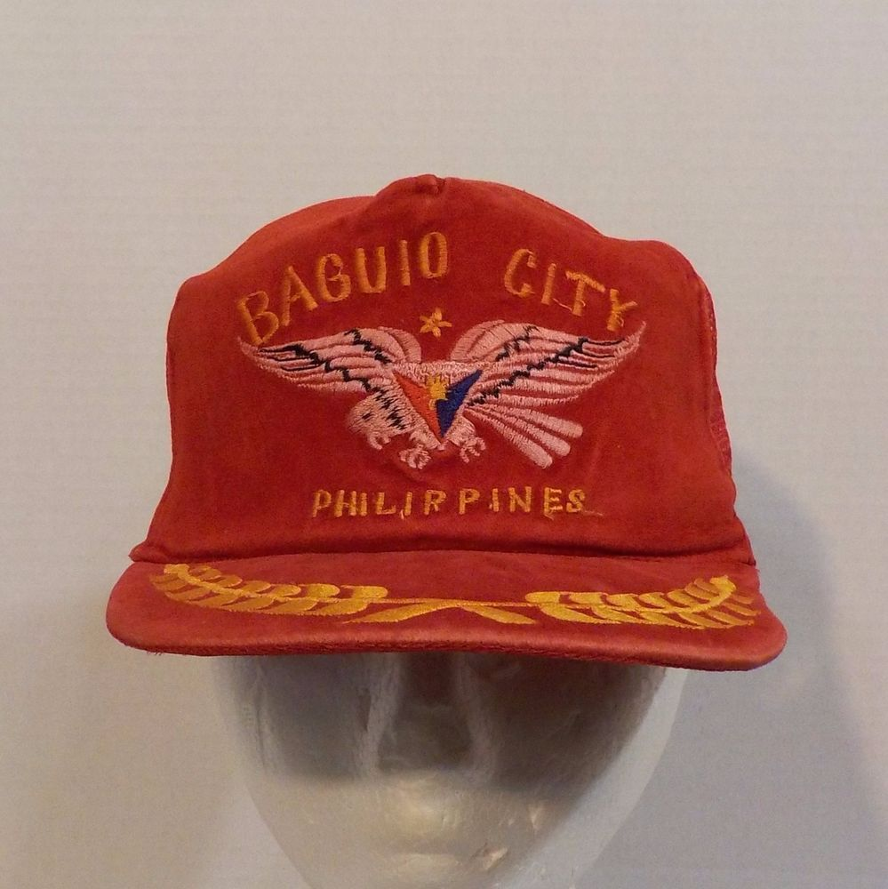 Baguio City Philippines Vintage Snapback Baseball Truckers Hat Cap #BaguioCity #BaseballCap