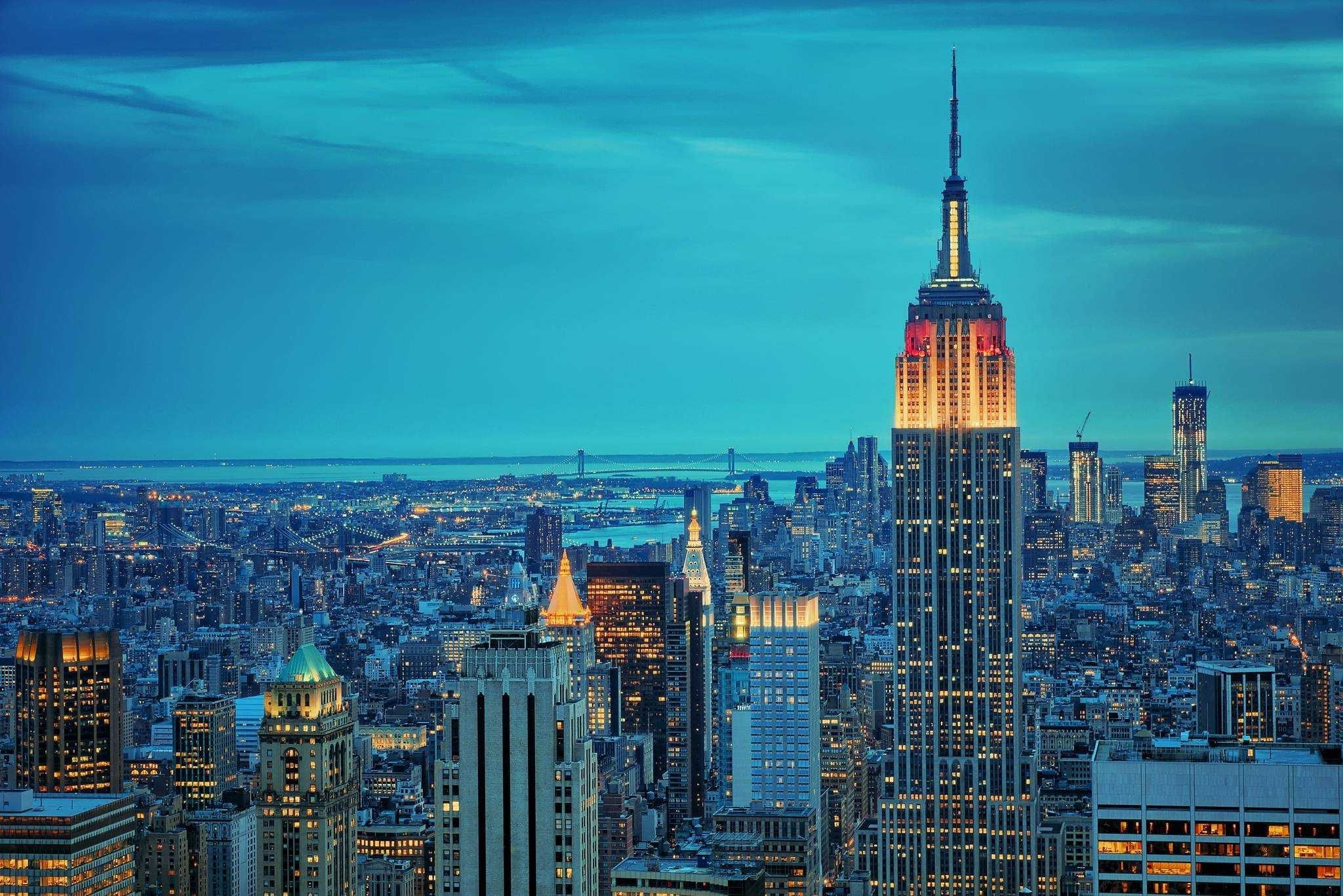 10 Top New York City Background Images Full Hd 1920 1080 For Pc Background Empire State New York City Background Empire State Building