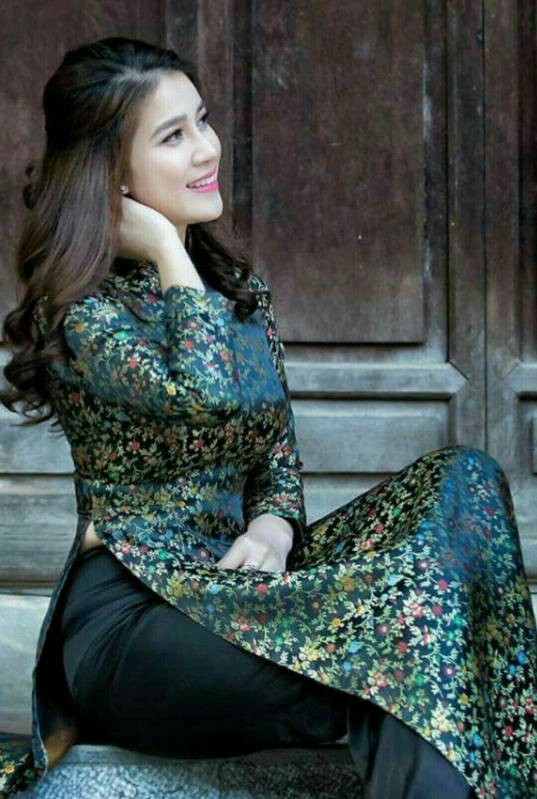 Vietnam long dress ao dai pinterest ao dai asian and asian woman