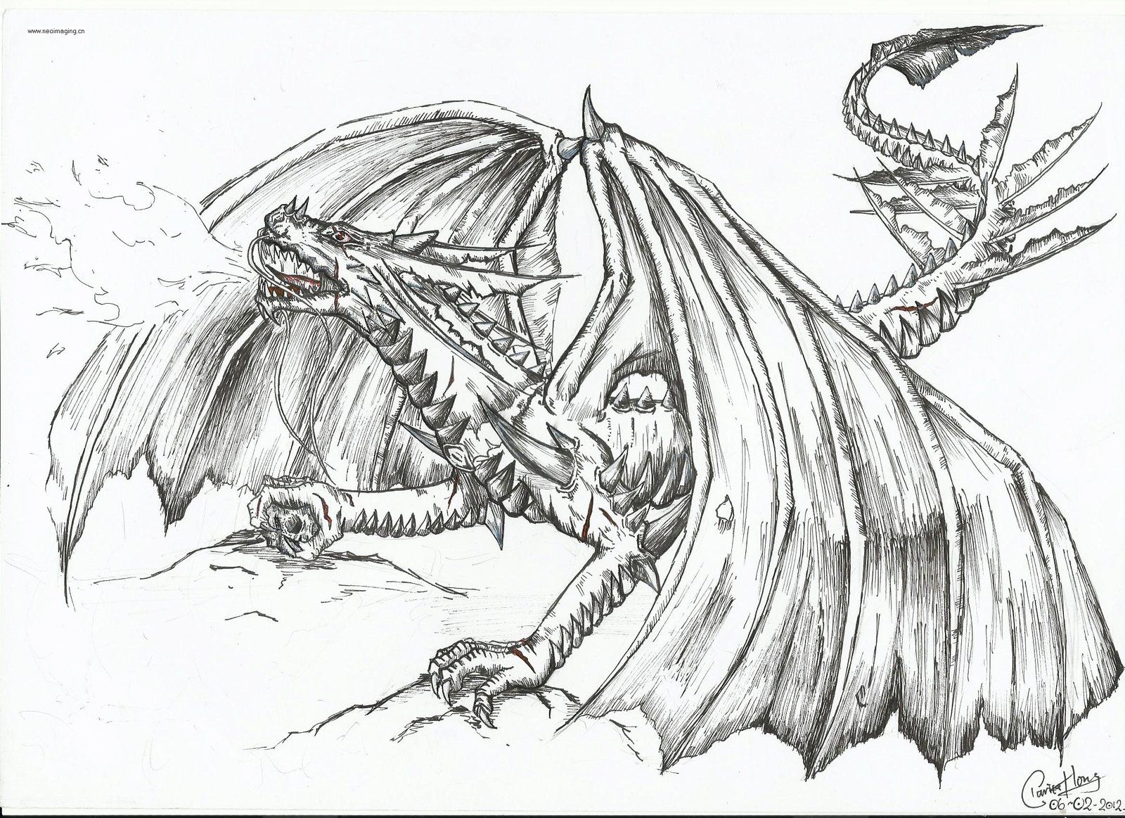 The Fire-breathing Dragon by ~dino-wolf on deviantART ...