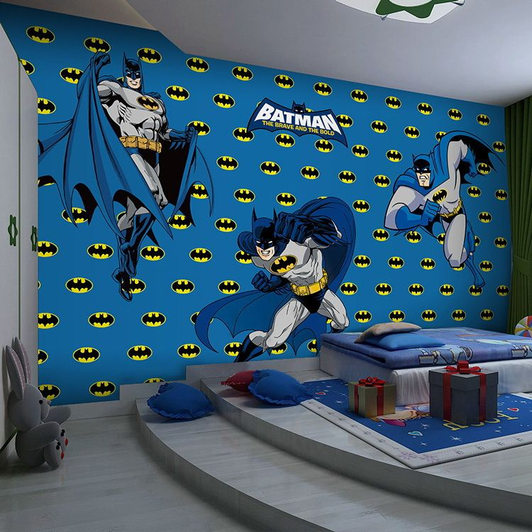 Superhero Bedroom Wallpaper Bedroom Accessories Bedroom Ideas Young Couple Bedroom Furniture Floor Plan: Batman Wallpaper For Bedroom