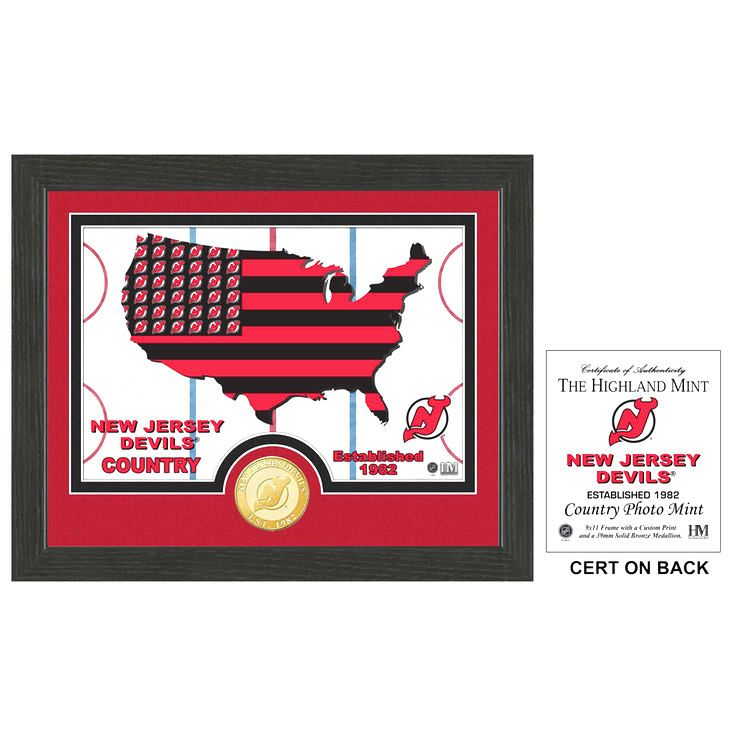 New Jersey Devils Highland Mint Country Photomint - $23.99
