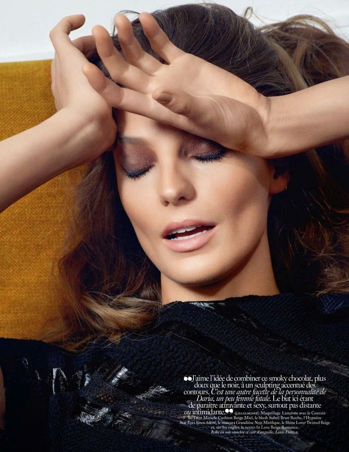 {a glamorous little side project} Daria werbowy, Vogue paris
